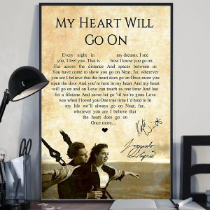 My heart will go on lyric Poster