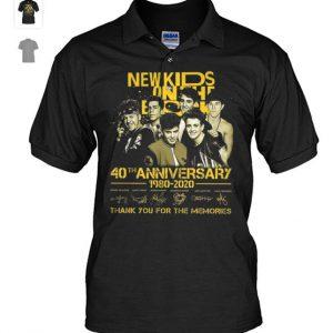 New Kids on the block 40th anniversary 1980-2020 shirt