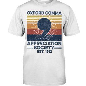 Oxford comma appreciation society shirt