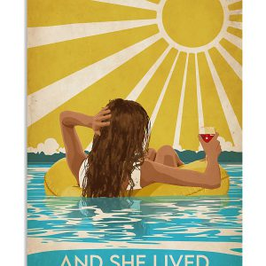 Swimming Brunette And She Lived Happily Ever After Poster