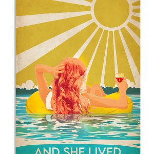 Swimming Redhead And She Lived Happily Ever After Poster