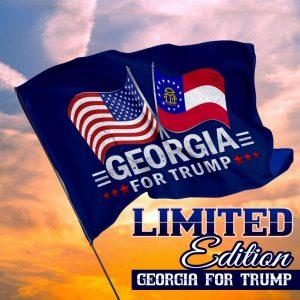 USA georgia for trump flag