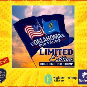 USA oklahoma for trump flag