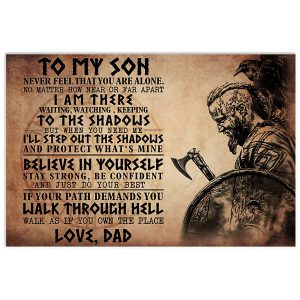 Viking to my son poster