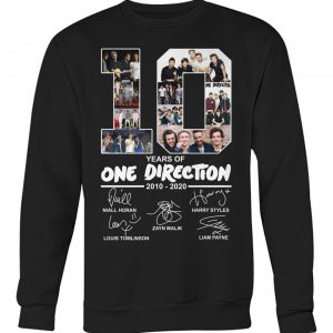 10 year of One Direction 2010 2020 shirt