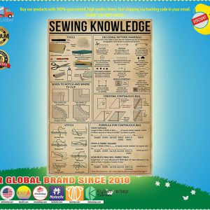 And she lived happSesewing knowledge poster
