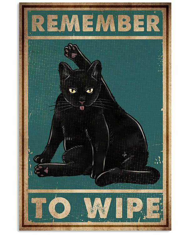 Cat remember to wipe poster