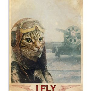 Cat thats what I do I fly and i know things poster