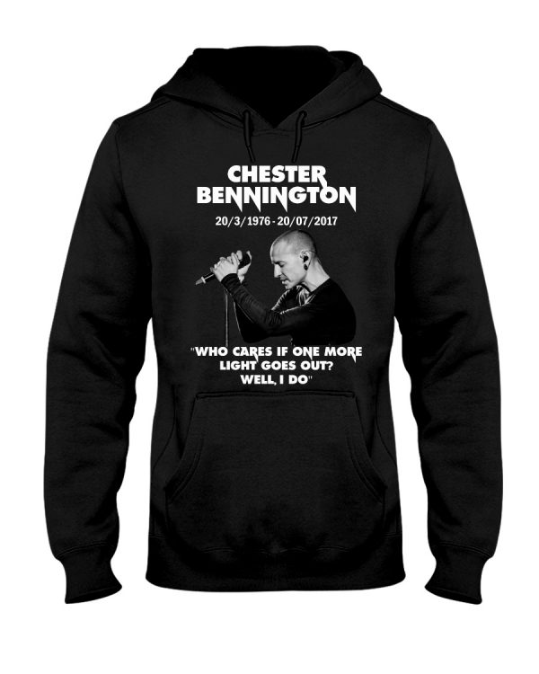 Chester bennington who cares if one more light goes out shirt.
