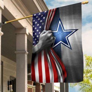 Dallas Cowboy American football flag