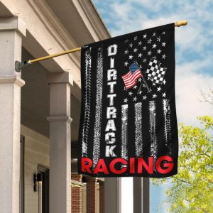 Dirttrack racing US American flag