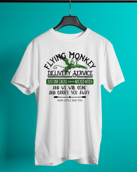 Flying monkey delivery service just one cackle wicked witch shirt