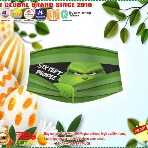 Grinch six feet people face mask