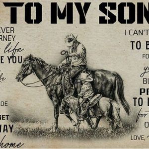 Horse riding to my son poster