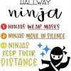 How to be a hallway ninja smart decisions poster