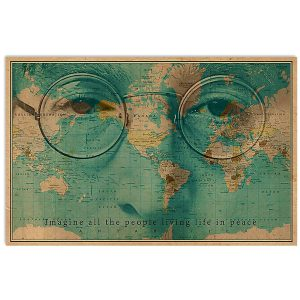 John Lennon imagine all the people living life in peace poster