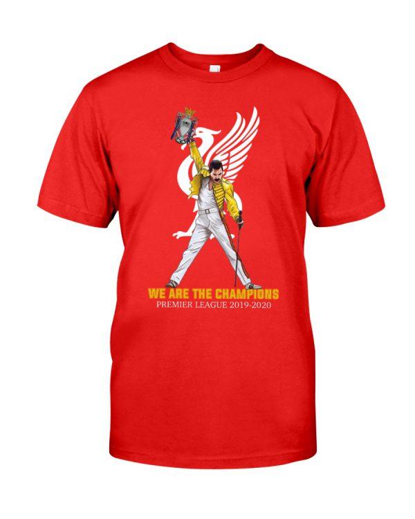 Liverpool Freddie Mercury we are champions premier league 2019 2020 shirt