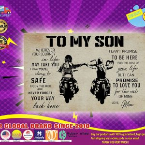 Motorcycles to my son poster