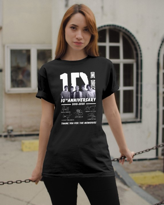 One direction th anniversary   shirt