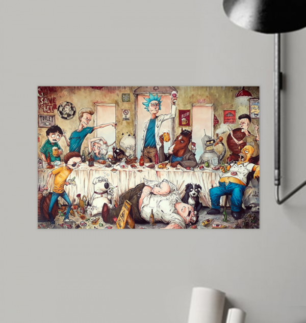 Rick and Morty Beavis Butthead South Park and others poster
