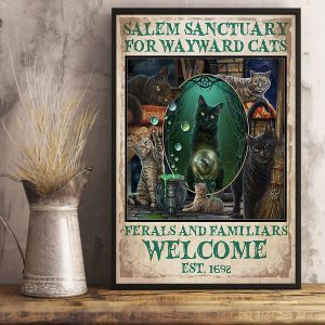 Salem sanctuary for wayward cats ferals and familiars welcome poster