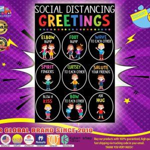 Social distancing greetings poster