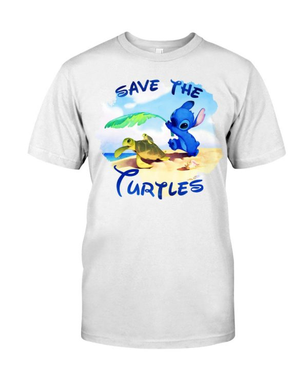 Stitch Save the turtles shirt