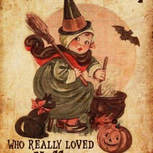There was a girl who really loved halloween it was me poster
