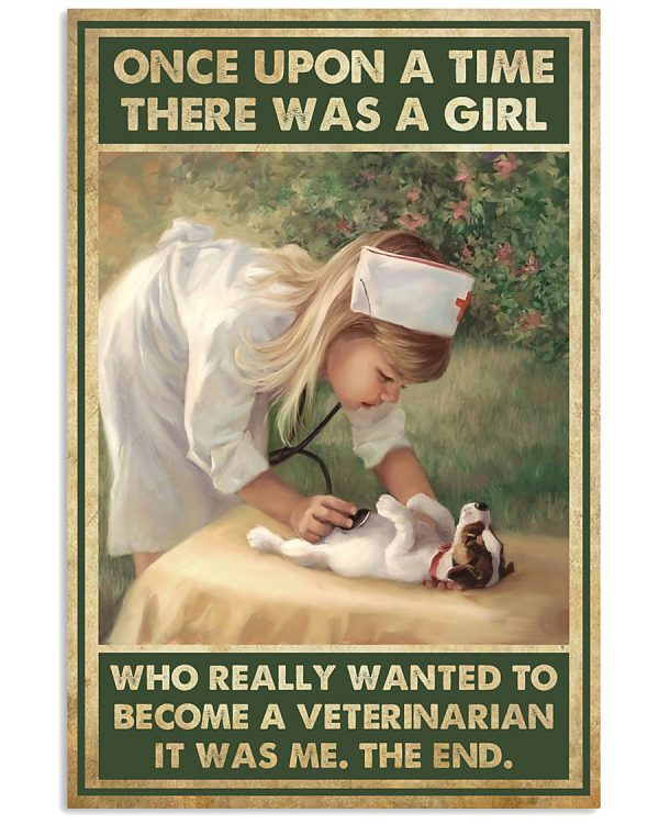 There was a girl who really want to become Veterinarian poster