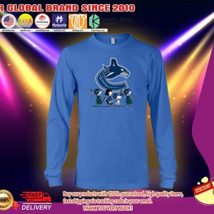 Vancouver Canucks Snoopy Charlie Brown long sleeves
