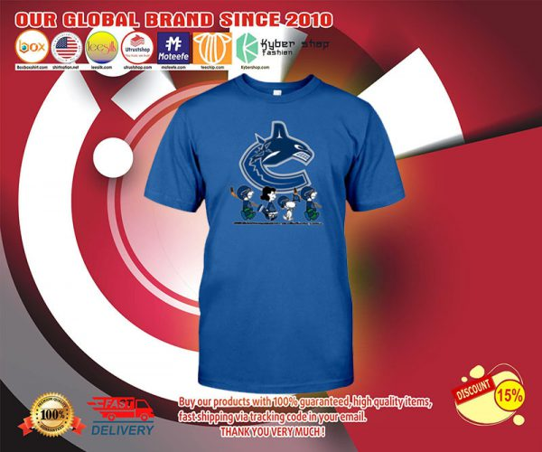 Vancouver Canucks Snoopy Charlie Brown shirts