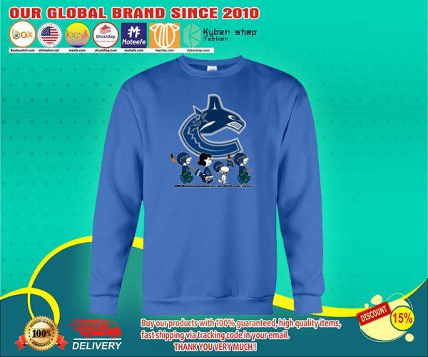Vancouver Canucks Snoopy Charlie Brown sweatshirts