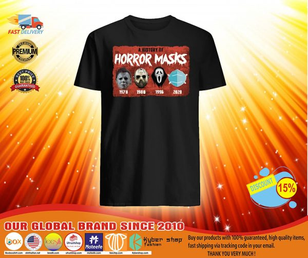 A history of horror masks shirt, hoodie