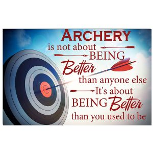 Archer It's About Being Better Than You Used To Be Poster