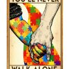 Autism you will never walk alone poster