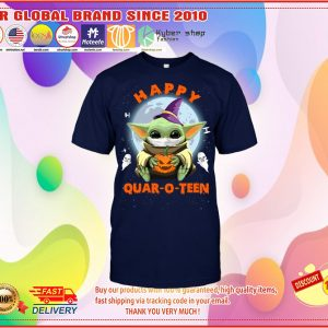Baby Yoda Happy quar o teen shirt