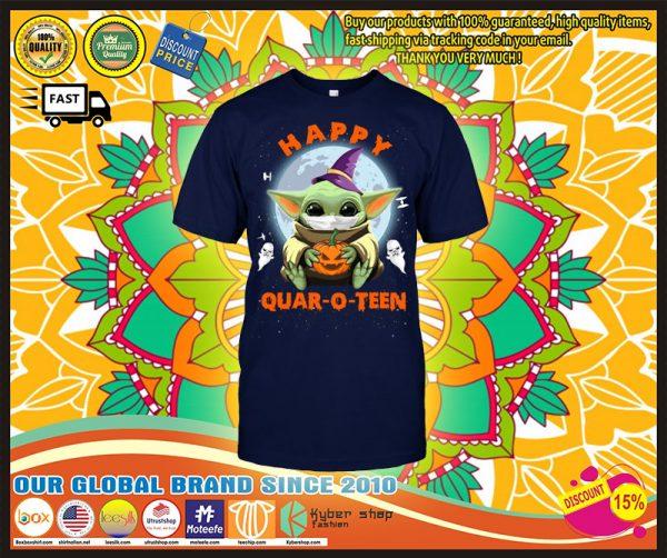 Baby Yoda Happy quar o teen shirt
