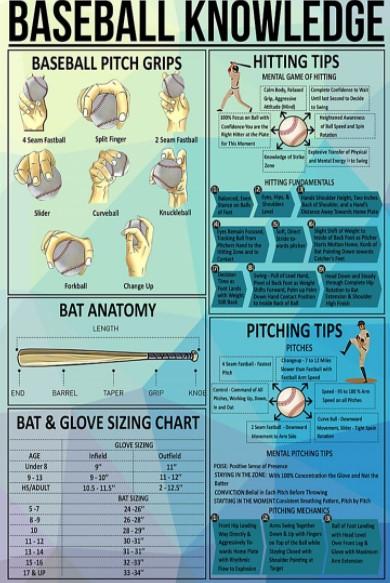 Baseball knowledge poster