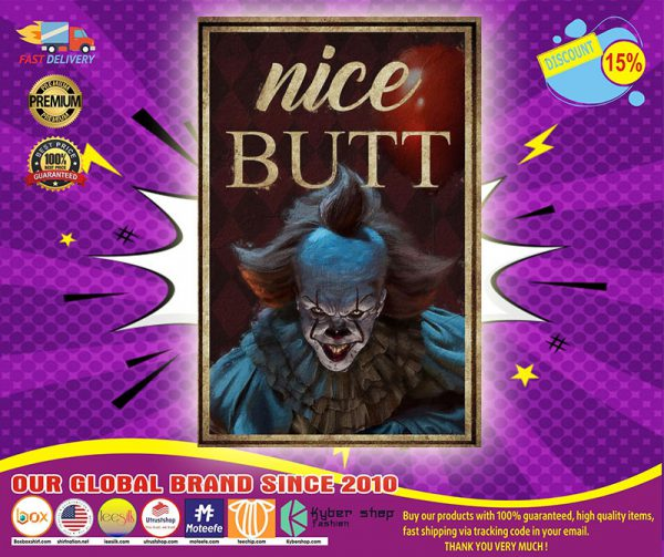 Clown IT Pennywise nice butt poster