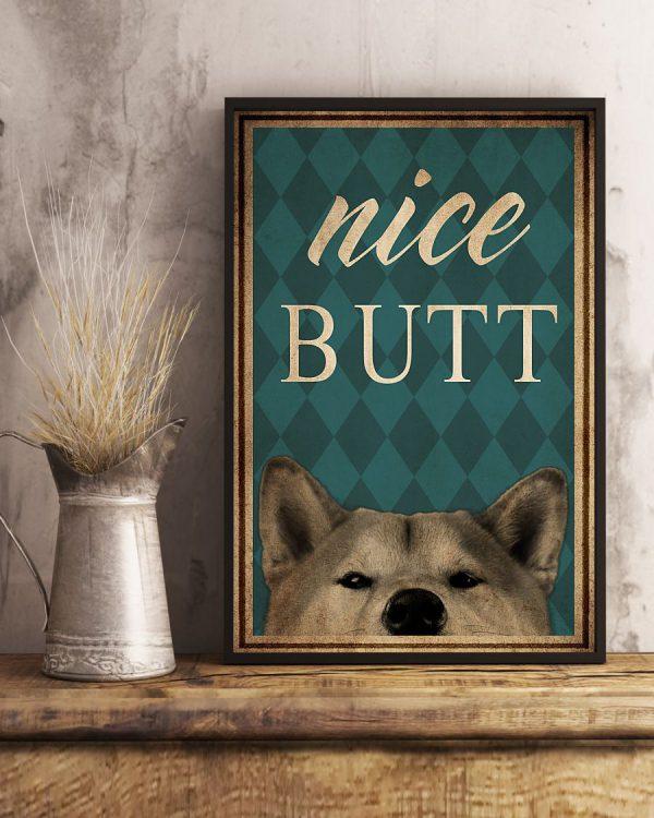 Dog Shiba Inu Nice Butt poster