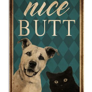Dog cat nice Butt poster