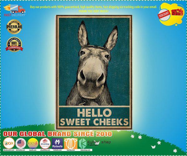 Donkey Hello Sweet Cheeks ă