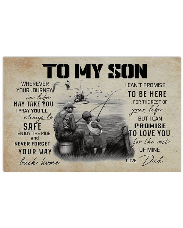 Fishing To my son wherever your journey poster
