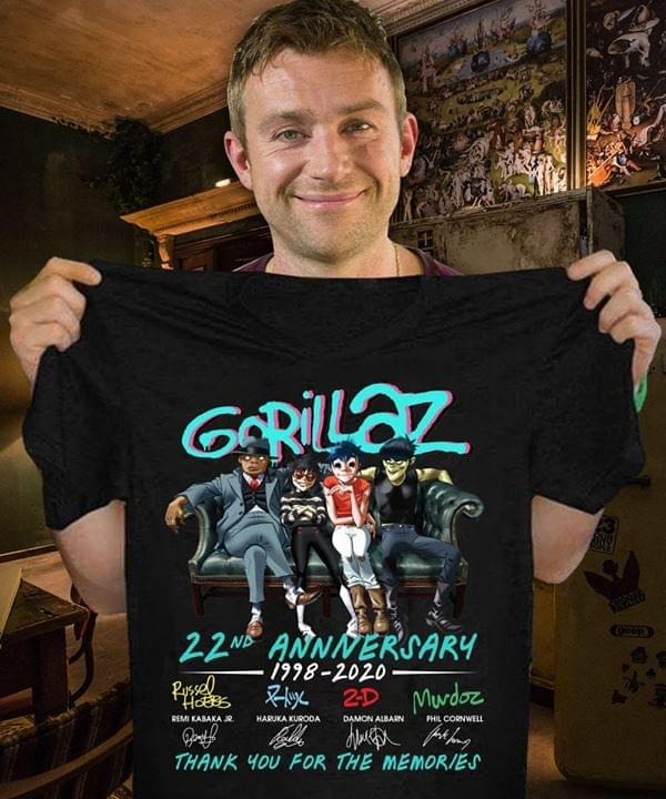 Gorillaz nd anniversary   thank you for the momeries shirt