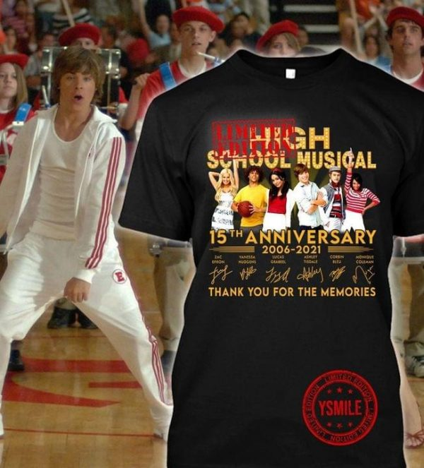 High school musical 15th anniversary thank you for the memories shirt, hoodie