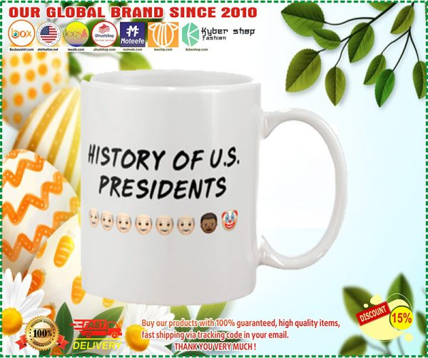 History of US presidents mug
