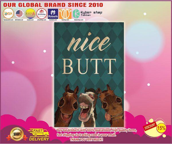 Horse nice butt poster