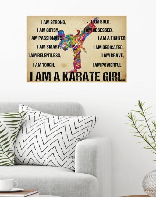 I am a karate girl poster