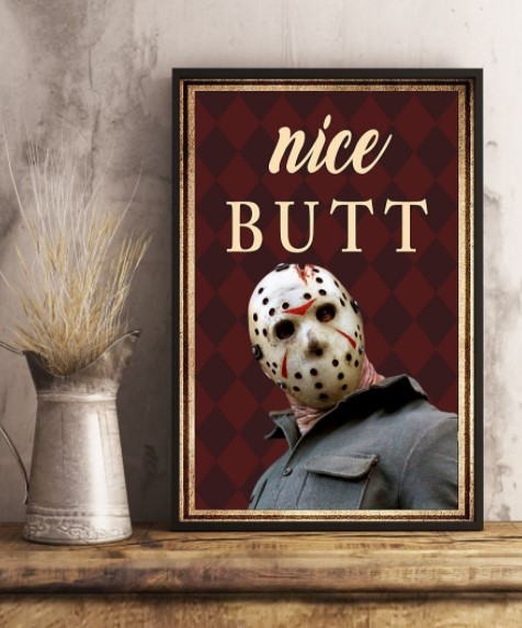 Jason Voorhees nice butt poster