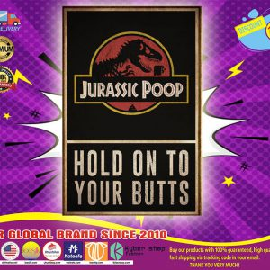 Jurassic poop butts poster
